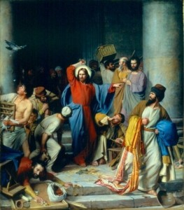 Casting Out the Money Changers by Carl Heinrich Bloch. (Source:
