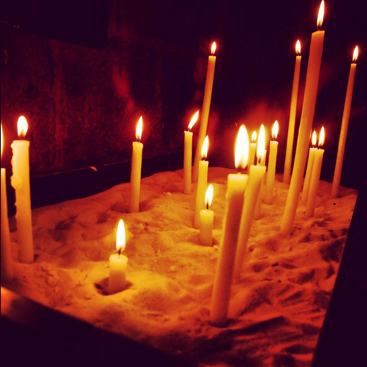 Candles at St. Julian le Pauvre, Paris