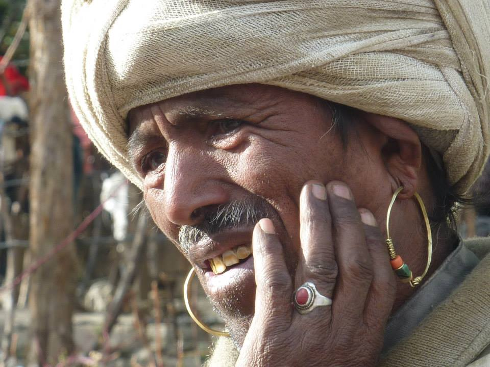 A local dhami from the Khas ethnic community in Simikot, Humla, Nepal.