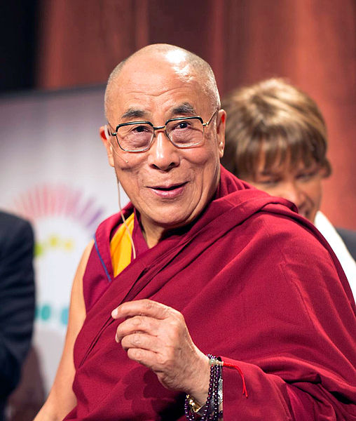 His Holiness the 14th Dalai Lama  Source: Christopher Michel @ChrisMichel (Attribution via www.ikipedia.org)