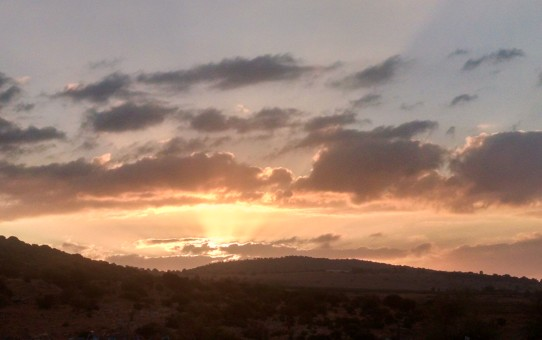 Sunrise at Huqoq, Israel