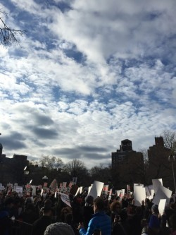 Photo taken by the author at the December 2014 Millions March in New York City.