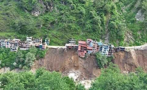 Bhotekoshi River flood aftermath in Nepal. (Image credit: Nepal Red Cross Society)
