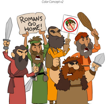 "Animation character designs by Cedric Hohnstadt of New Testament Zealots for the video series ""What's In The Bible?"""